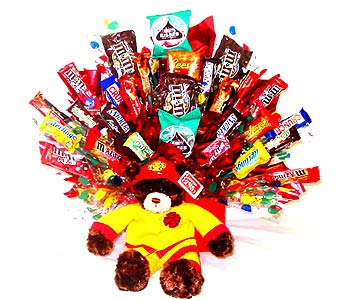FIREMANCB ''Fireman'' Candy Bouquet in Oklahoma City OK, Array of Flowers & Gifts