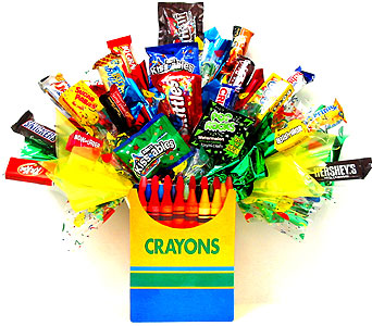 CB142 ''Sweet Colors'' Candy Bouquet in Oklahoma City OK, Array of Flowers & Gifts