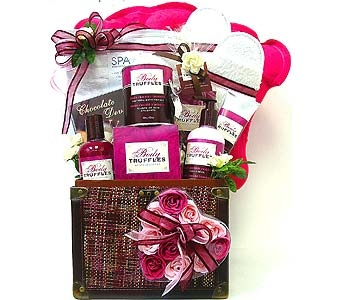 GB228 ''Chocolate Raspberry Spa-Tacular''  Bath &  in Oklahoma City OK, Array of Flowers & Gifts