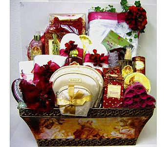 GB238 ''Elegant Angels'' Bath, Body & Gift Basket in Oklahoma City OK, Array of Flowers & Gifts