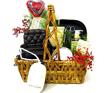 VGB236 ''Pamper Him'' Men's Gift Basket in Oklahoma City OK, Array of Flowers & Gifts