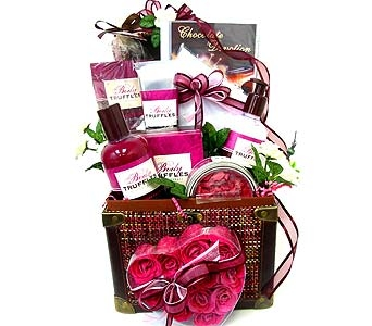 GB226 ''Raspberry Truffle Retreat'' Bath & Body Gi in Oklahoma City OK, Array of Flowers & Gifts