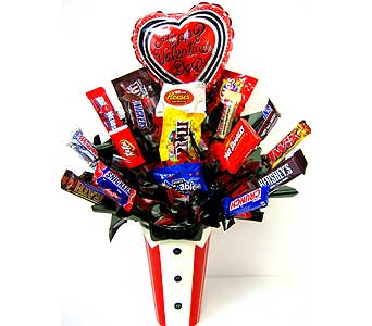 VCB53 ''Mr. Debonair'' Candy Bouquet in Oklahoma City OK, Array of Flowers & Gifts