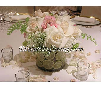 Pastel Kisses & Limes Flower Bouquet in Santa Monica CA, Edelweiss Flower Boutique