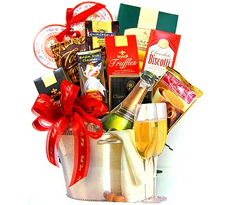 VGF30 ''Cheers'' Gourmet Food Arrangement in Oklahoma City OK, Array of Flowers & Gifts