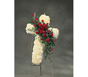 Elegant Cross Tribute in Abington MA, The Hutcheon's Flower Co, Inc.