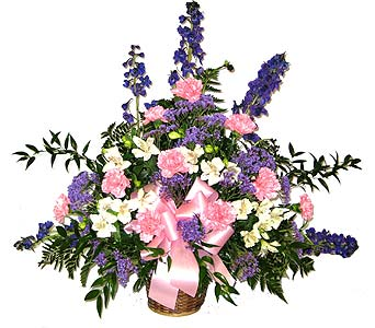Pink and Blue Sympathy Basket in Wyoming MI, Wyoming Stuyvesant Floral