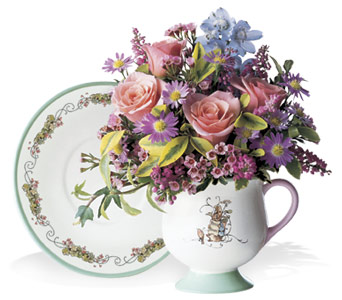 Peter Rabbit Teacup & Saucer in Liverpool NY, Creative Florist