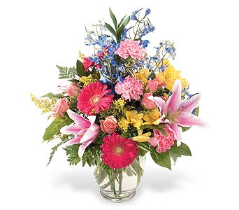 Bright and Beautiful Vase in Big Rapids, Cadillac, Reed City and Canadian Lakes MI, Patterson's Flowers, Inc.