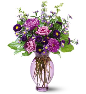 Teleflora's Lavender Inspiration Bouquet in Daly City CA, Mission Flowers
