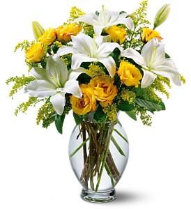 Teleflora's Pure Inspiration Bouquet in Eugene OR, Dandelions Flowers