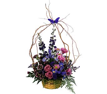 Butterfly Basket of Fresh Cut Flowers in Wyoming MI, Wyoming Stuyvesant Floral