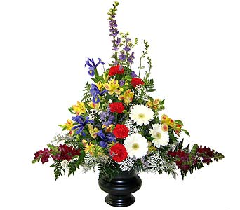 Bright Garden Sympathy Arrangement in Wyoming MI, Wyoming Stuyvesant Floral