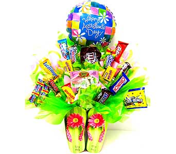 SECCB148 Flip Flops Candy Bouquet in Oklahoma City OK, Array of Flowers & Gifts
