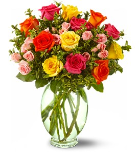 Teleflora's Summertime Roses in Lenexa KS, Eden Floral and Events