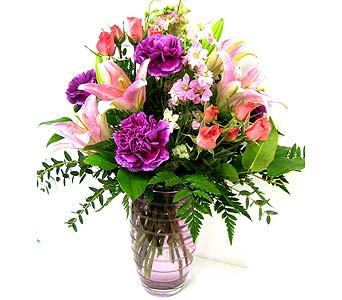 MDFF89 ''Lovely Lavender'' Vase Arrangement in Oklahoma City OK, Array of Flowers & Gifts