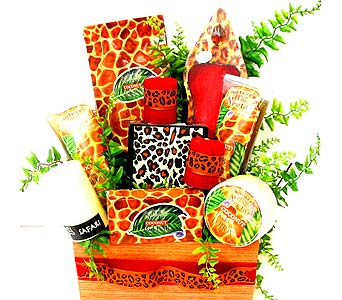 GB244 ''Wild Esence'' Bath & Body Basket in Oklahoma City OK, Array of Flowers & Gifts