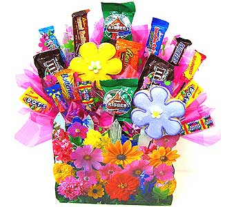 CB153 ''Floral Garden'' Candy & Cookie Bouquet in Oklahoma City OK, Array of Flowers & Gifts
