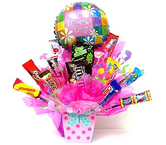 MDCB147 ''Butterfly'' Candy Bouquet in Oklahoma City OK, Array of Flowers & Gifts