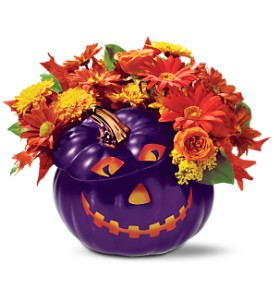 Teleflora's Purple Pumpkin Bouquet in Murrieta CA, Michael's Flower Girl