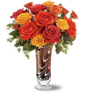 Teleflora's Swirls of Autumn Bouquet in Grass Lake MI, Designs By Judy