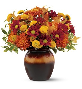 Teleflora's Shades of Autumn Bouquet in Waycross GA, Ed Sapp Floral Co