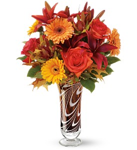 Teleflora's Swirls of Autumn Bouquet - Deluxe in Grass Lake MI, Designs By Judy