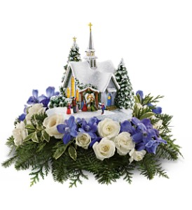 Thomas Kinkade's Chapel by Teleflora - Blue in Altoona PA, Peterman's Flower Shop, Inc