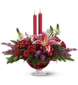 Teleflora's Crimson Christmas-Deluxe in The Woodlands TX, Rainforest Flowers
