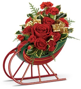 Teleflora's Sleigh Ride Bouquet in El Paso TX, Blossom Shop