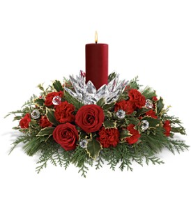 Teleflora's Christmas Ice Petals Bouquet in Woodbridge VA, Brandon's Flowers