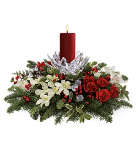Teleflora's Christmas Ice Petals Bouquet-Deluxe in Tampa FL, Moates Florist