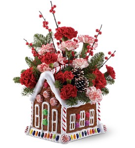 Teleflora's Gingerbread House Bouquet in Silver Spring MD, Colesville Floral Design