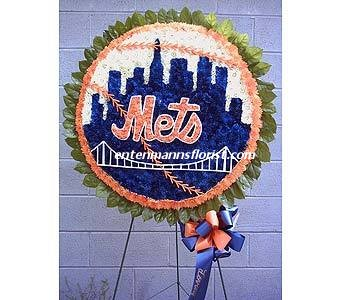 METS BASEBALL (fancy) in Jersey City NJ, Entenmann's Florist