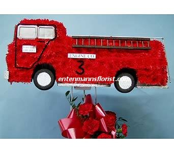 FIRE TRUCK in Jersey City NJ, Entenmann's Florist