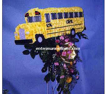 School Bus in Jersey City NJ, Entenmann's Florist