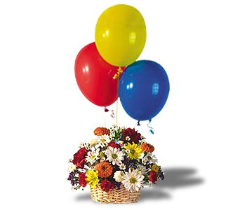 Balloons and Blossoms Basket in Osceola IA, Flowers 'N More