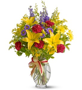 Teleflora's Sunny Side in Longview TX, The Flower Peddler, Inc.