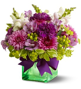 Teleflora's Cheerful Wishes in Warwick RI, Yard Works Floral, Gift & Garden