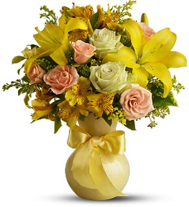 Teleflora's Sunny Smiles in Rantoul IL, A House Of Flowers