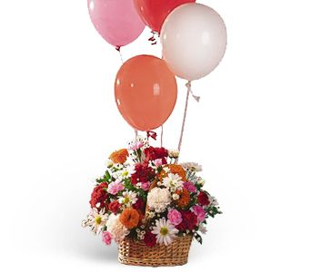 Soaring Balloons and Blooms in San Clemente CA, Beach City Florist