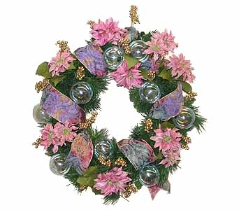 HW-2428 ''VICTORIAN'' CHRISTMAS WREATH in Oklahoma City OK, Array of Flowers & Gifts