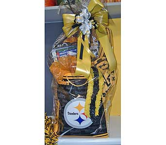 Steelers Tailgater Basket in McKees Rocks PA, Muzik's Floral & Gifts