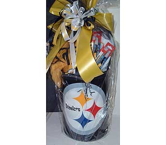 Steelers Dorm Basket in McKees Rocks PA, Muzik's Floral & Gifts