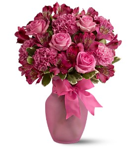 Pink Blush Bouquet in Boynton Beach FL, Boynton Villager Florist