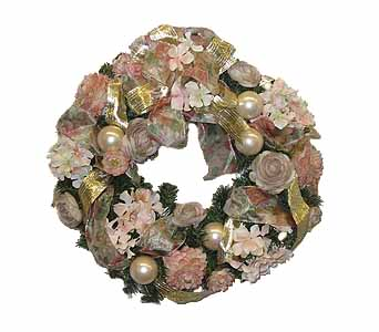HW-2388 ''A TOUCH OF HEAVEN'' CHRISTMAS WREATH in Oklahoma City OK, Array of Flowers & Gifts