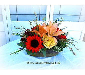 Fall Deluxe Centerpiece in Lake Forest CA, Cheers Floral Creations