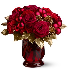 Royal Holiday Roses in New York NY, Fellan Florists Floral Galleria