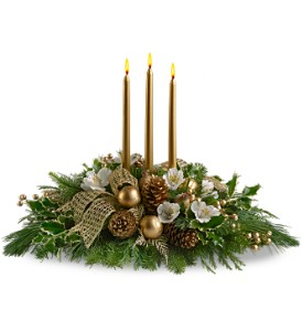 Royal Christmas Centerpiece in Norwich NY, Pires Flower Basket, Inc.