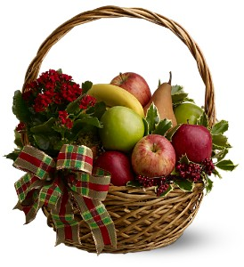Holiday Fruit Basket in Houston TX, Fancy Flowers